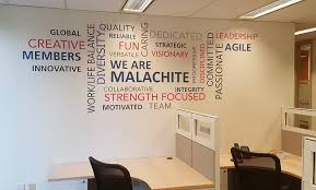 office wall murals. Architectural Wall Murals And Word Clouds Office