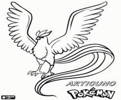 Kleurplaat Articuno Legendarische Vogel Pokémon Kleurplaten