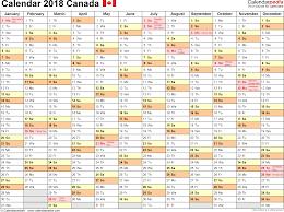 September 2018 Calendar Canada Calendar Yearly Printable