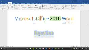 how to insert an equation in word 2016