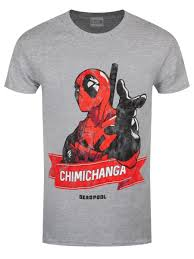 Top Selling T Shirt Designs Deadpool Chimichanga Pointing Mens Grey Cool T Shirts Designs Best Selling New High Quality Top Tee T Shirt Sale Cool Shirt Designs From Gaobei04