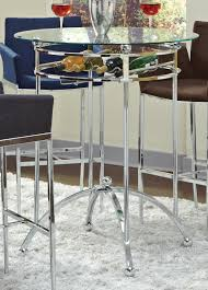 Coaster Fine Furniture 120335 Modern Bar Height Table With Glass Top