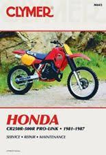 cr motorcycle parts clymer repair service shop manual honda 81 87 cr250 cr450 cr480 84