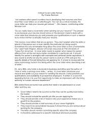 critical cover letter advice by chelse benham job seekers do you need a cover letter
