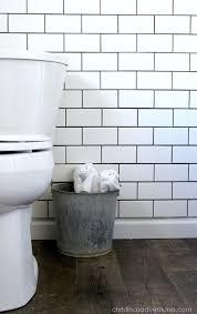 Small Subway Tile small bathroom makeover - christinas adventures
