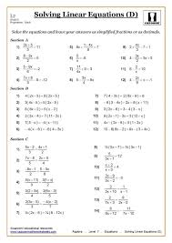 ks3 ks4 maths worksheets printable with answers equations fractions worksheet tes al equations with fractions worksheet