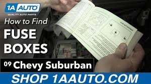 how to find your fuse boxes on a 2007 13 chevy suburban, gmc yukon how to find fuse box for saturn outlook how to find your fuse boxes on a 2007 13 chevy suburban, gmc yukon, ford tahoe