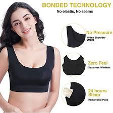 Bluland <b>Women's Yoga Bra Seamless</b> Sleeping Bra with Removable ...