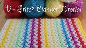V Stitch Crochet Pattern Custom SUPER Easy Crochet V Stitch BlanketScarf YouTube