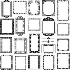 black and white pattern frame corners vector material