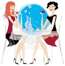 Image result for cartoon image of woman drinking wine