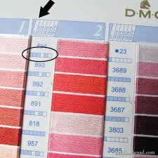 Dmc Color Chart 2017 All About Real Thread Color Cards Needlenthread Com