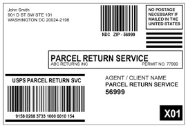 usps barcode format dmm 505 return services