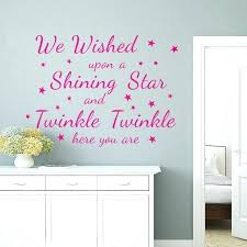 pink wall decals pink wall art es letters wall stickers stars living room vinyl decor removable
