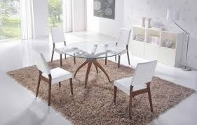 hawthorn 48 round glass 5 piece dining table