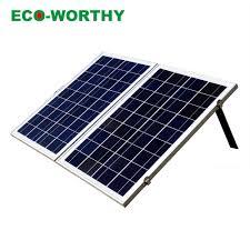 Folding Solar Light Ecoworthy 100w 12v Folding Solar Panel Foldable Charger With