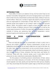 importance of food safety management to avoid sp of infection