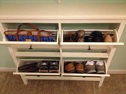 furniture beige wooden shoe storage with drawers connected by dark mocha carpet alluring shoe