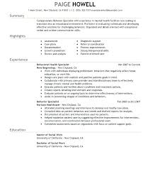 Example Of Social Work Resumes Social Worker Resume Templates Emelcotest Com