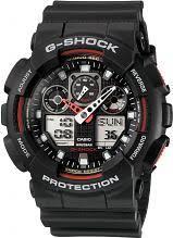 "casio g shock watches men s g shock watch shop comâ""¢ mens casio g shock alarm chronograph watch ga 100 1a4er"