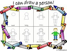Person Chart Guided Drawing Person Anchor Chart