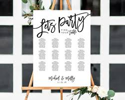 Wedding Seating Chart Wording Lets Party Seating Chart Wedding Seating Chart Seating