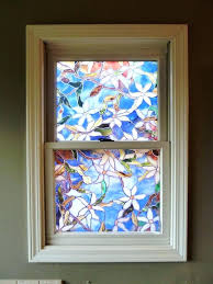 stained glass bathroom window faux stained glass vinyl stained glass bathroom window uk