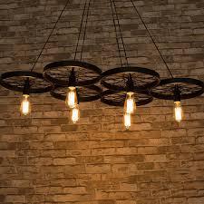 Industriële Hanglamp Met 6 Wielen Voor Led Verlichting