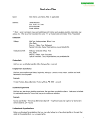 Resume Template Examples curriculum vitae resume template