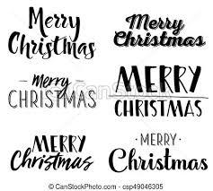 Different Christmas Labels Eps Merry Christmas Six Unique