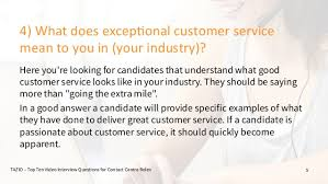 What Does Good Customer Service Mean To You What Does Great Customer Service Mean To You Interview