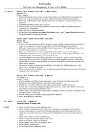 Registered Nurse Outpatient Resume Samples Velvet Jobs