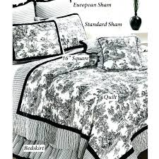 black and white toile bedding french bedding black bedding medium size of black bed set black