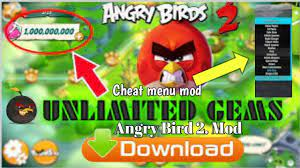 Angry Bird 2 mod APK unlimited gems and cheat menu mod - YouTube