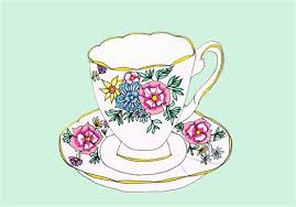 vintage tea cups drawing. Delighful Cups Vintage Tea Cup Drawing At Getdrawingscom Free For Throughout Cups E