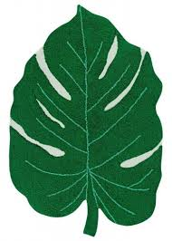the monstera leaf rug by lorena cs retails at 200 in 4 x 5 3 size