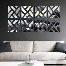 Small Picture modern mirror wall art home decoration fantastic squared wall