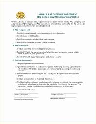 Partnership Contracts Template Partnership Forms Fresh Free Business Partner Contract Template New 8