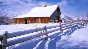 Winter Barn Scenes Wallpapers - 4k, HD ...
