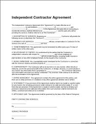 Independent Contractor Agreement Template Free Contractor Contracts Safero Adways Contractor Contract Template