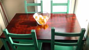Refinishing A Kitchen Table Tabletop Refinish Chairs How To Update A Vintage Enamel Top Table