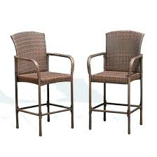 outdoor wicker bar set of two rattan chairs knight home cart antique