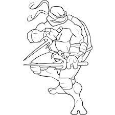 Small Picture Free Superhero Coloring Pages Ninja Turtle Cool Kleurplaat