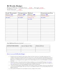 Free Bieekly Budgetorksheet Standard Form Tire Driveeasy Co Pictures ...