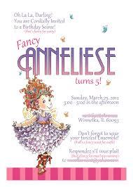 fancy nancy invitation advertisements