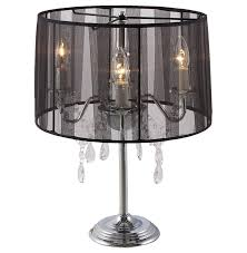 crystal drop chandelier table lamp shade
