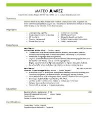 Resumes For Educators Best Teacher Resume Example Livecareer