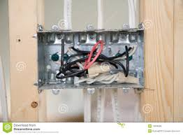 electrical home wiring outlet box stock photos images pictures electrical box wiring royalty stock images