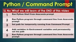run python script using mand prompt
