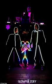 glowy zoey royce hutain eco friendly costumes led strip